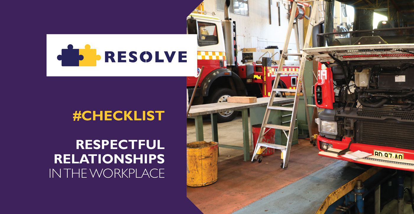 Guide to Respectful Relationships Checklist Facilitation and Training in the Workplace - Resolve Advisors